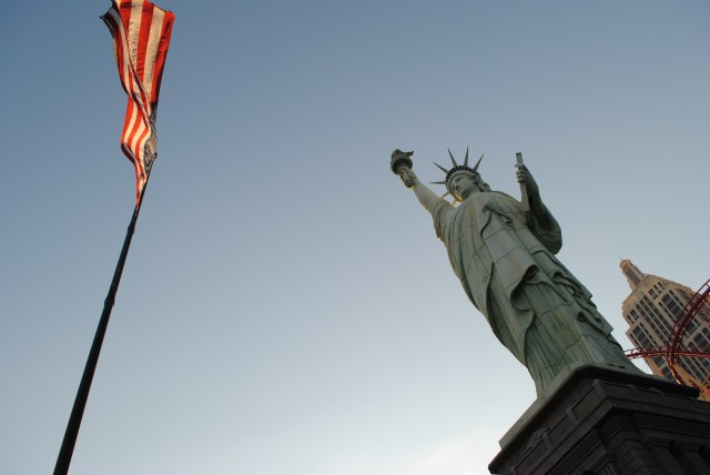 Union Flag and Statue of Liberty